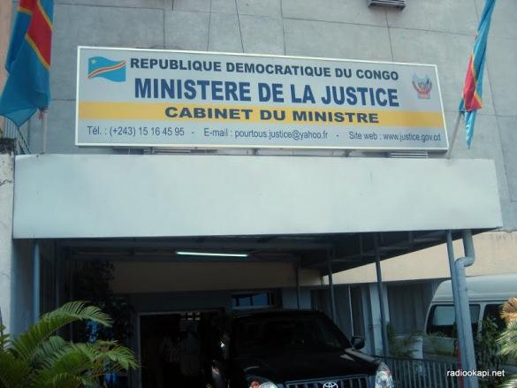 Cabinet du Ministère de la Justice à Kinshasa, 19 janvier 2011.