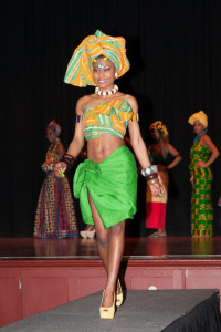 Jessica in her Congolese outfit