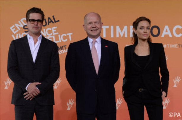 Jolie and Hague at war rapes summit