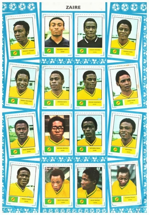 Stickers FKS Publishing Panini ZAIRE 1974