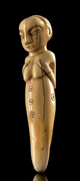 Amulette luba-Kasai en ivoire