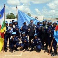 Centrafrique: retour de 108 casques bleus congolais de laMinusca