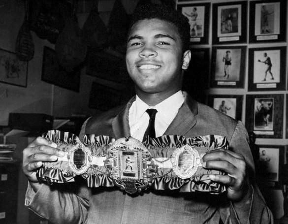 UNITED STATES - SEPTEMBER 17: Muhammad Ali holding the Heavyweight Title Belt that he received from Ring Magazine. (Photo by Phil Greitzer/NY Daily News Archive via Getty Images)
